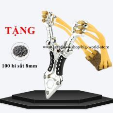 Sung cao su, na. thun 3 dây hợp kim siêu bền + Tặng 100 bi sắt 8mm
