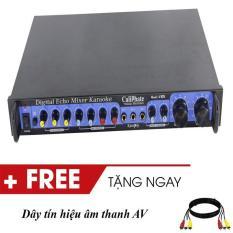 Đầu chỉnh vang echo chỉnh âm thanh karaoke Caliphate V105 3 mic màu đen