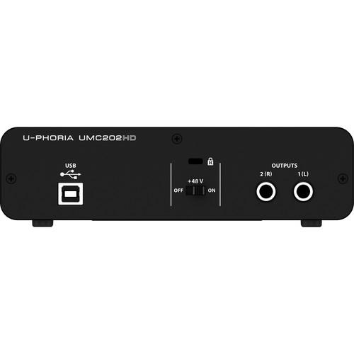 Card âm thanh Behringer U-PHORIA UMC202HD 2-In/ 2-Out- USB 2.0 Audio Interface