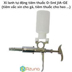 Xi lanh tự động tiêm thuốc 0-5ml Inox JIA-GE (tiêm vắc xin cho gà, tiêm thuốc cho heo …)