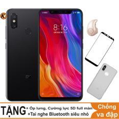 Xiaomi Mi 8 64GB Ram 6GB Khang Nhung (Đen) + Ốp lưng + Cường lực 5D full màn (Đen) + Tai nghe bluetooth siêu nhỏ
