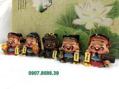 Bộ 5 tượng Ngũ Công Thần Tài Nhật Bản May Mắn Tài Lộc