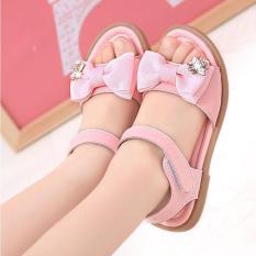 Sandal cho bé gái thắt nơ theo phong cách Hàn Quốc- 11SD127