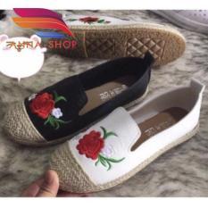 giày cói hoa hồng