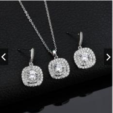 Bộ trang sức nữ bạc 925 nhụy hoa hướng dương đính pha lê