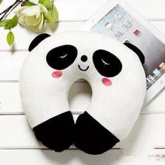 Gối cổ chữ U nhung mềm Panda