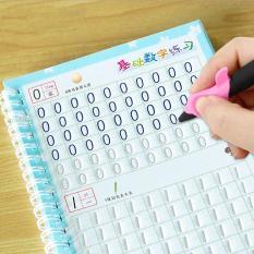 Sét 3 sách tô màu chữ – số – hình mực tự bay kèm bút cho bé