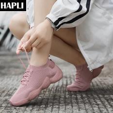 Giày thể thao nữ giày tập LOẠI ĐẸP (kèm VIDEO), đế xoắn uốn dẻo được, giày sneaker hot HAPLI (hồng, đen, trắng)