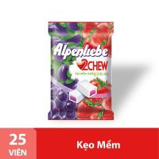 Kẹo Mềm Alpenliebe 2Chew Hương Hỗn Hợp Dâu & Nho Gói 25 Viên
