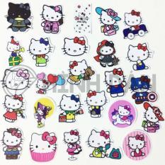 Bộ Sticker Chủ Đề Hello Kitty (2018) Hình Dán Decal Chất Lượng Cao Chống Nước Trang Trí Va Li, Xe, Laptop, Nón Bảo Hiểm, Máy Tính, Tủ Quần Áo