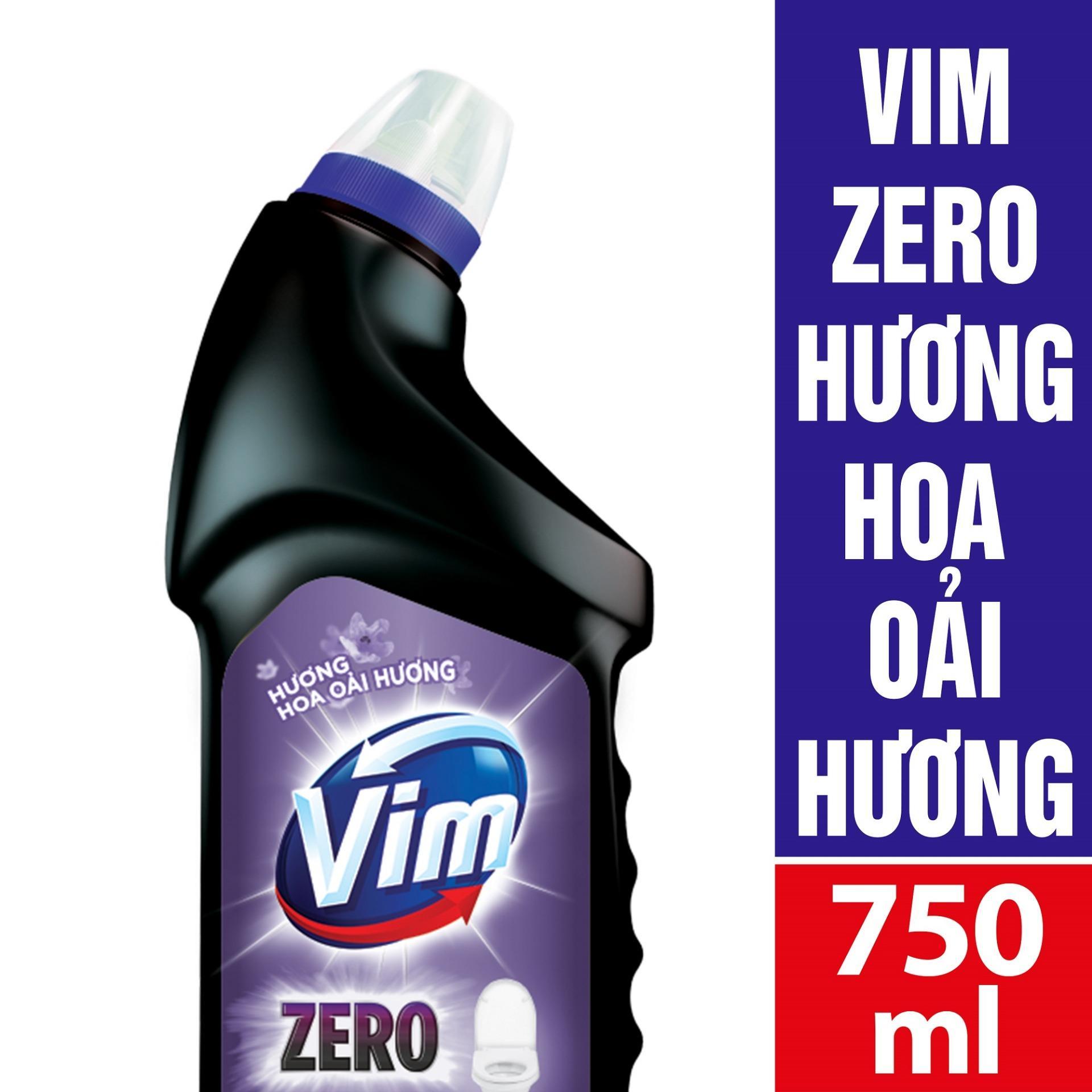 CHẤT TẨY RỬA BỒN CẦU VIM ZERO 750ML HƯƠNG HOA OẢI HƯƠNG