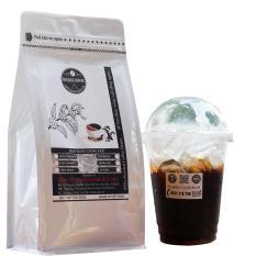 Cà phê rang xay gói 500g – Buôn Ma Thuột – rang mộc hoàn toàn – túi màu trắng ROCKING COFFEE