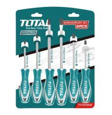 Bộ tua vít 6 cây cán nhựa Total THT250606