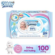 [MUA KÈM ĐỂ FREESHIP HN, HCM] Khăn ướt trẻ em Bobby Care không mùi hương gói 100 miếng
