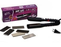Máy bấm duỗi kẹp tóc cao cấp kèm theo 8 miếng kim loại thay thế