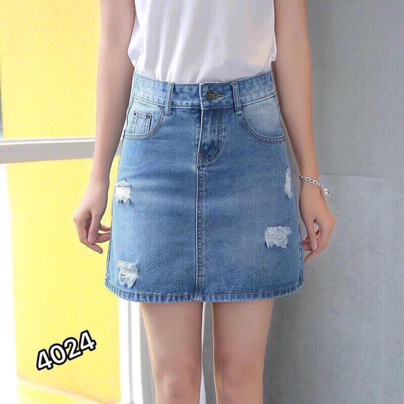 Chân Váy Jeans Chữ A Thời Trang OHS4024-25