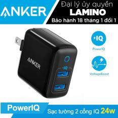 Sạc ANKER PowerPort II 2 cổng 24w PowerIQ – A2027