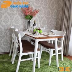 Bộ bàn ăn Cacao màu trắng 4 ghế