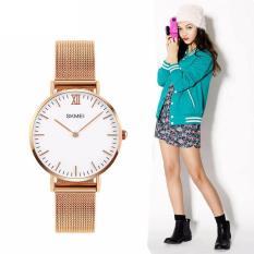 đồng hồ dây kim loại nữ Skmei Sk1129 dây thép không gỉ size mini cực xinh