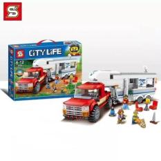 Lego CITY LIFE xếp hình xe chở đồ dã ngoại 6964