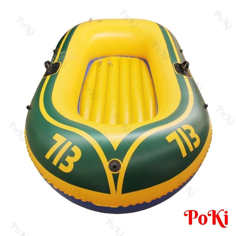 Thuyền phao Kayak 713 cho 2 người, thuyền bơm hơi đi câu cá gấp gọn tiện lợi, chất liệu cao cấp – POKI