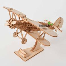 Đồ chơi lắp ráp gỗ 3D Mô hình Máy bay Biplane – Máy bay mô hình | Đồ chơi gỗ | Thế giới đồ chơi | Lego | Đồ chơi xếp hình | Đồ chơi trẻ em | Đồ chơi giáo dục