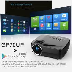 Máy chiếu android Simplebeamer GP70-UP hỗ trợ Wifi,loa ngoài, CH Play