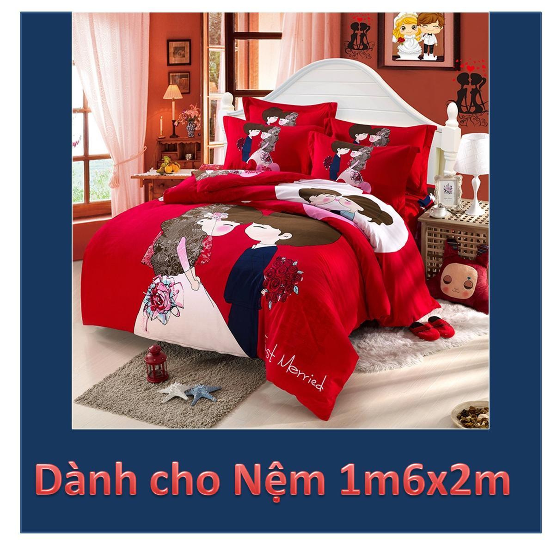 Bộ ga giường Cô dâu (đỏ)