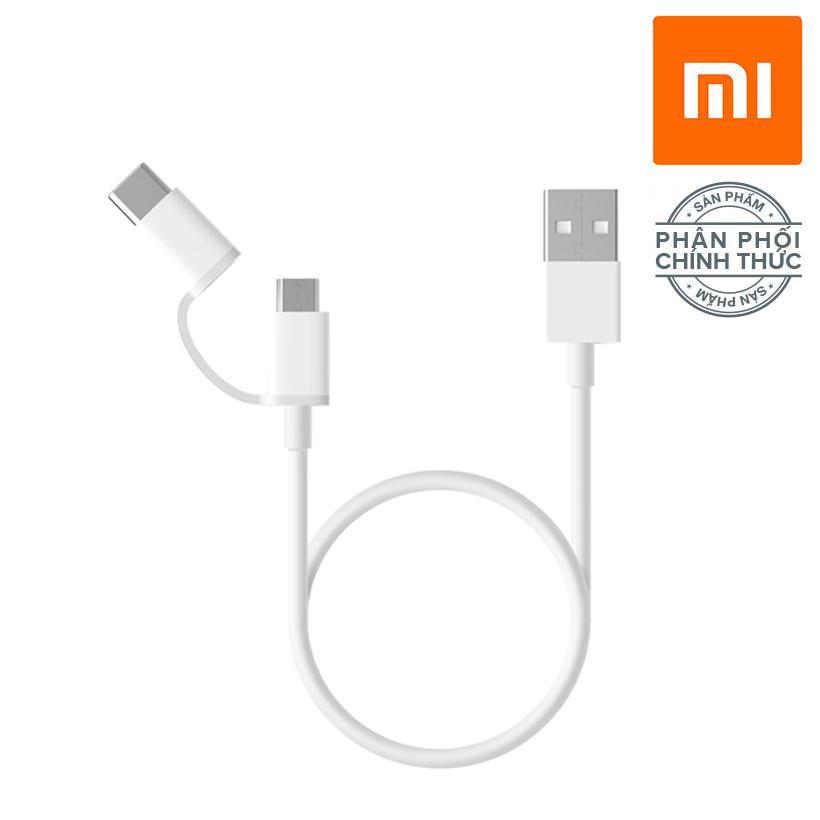 Mua Dây truyền dữ liệu 2 trong 1 (Micro USB qua Type C) 100cm Tại Xiaomi Flagship Official Store