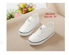 Giày trắng thể thao học sinh 2-12 tuổi bé trai bé gái