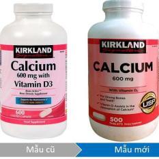 Viên uống bổ sung canxi Kirkland Signature Calcium 600mg + D3 500 viên (hsd 8/2020)