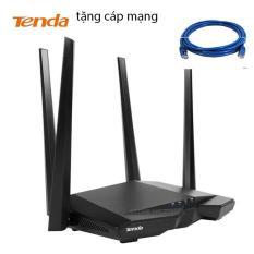 Thiết bị phát Wifi chuẩn AC 1200Mbps Tenda AC6 (đen) + 1 CÁP MẠNG (phiên bản nhập khẩu)