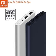 Pin sạc dự phòng Xiaomi 10000 mAh gen 2s 2018 Bạc – Digiworld phân phối chính thức