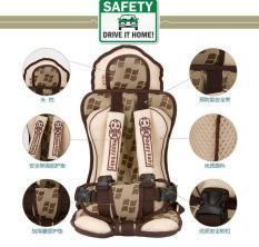 Ghế ngồi phụ dày đa năng trên xe hơi, ô tô bảo vệ an toàn cho bé từ 9 tháng – 7 tuổi (dưới 25kg) _ DLB02 (kem hoa văn)