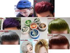Sáp vuốt tóc tạo màu 8 màu hót nhất năm: xám khói, bạch kim, hạt dẻ, xanh dương, xanh rêu, màu đỏ, màu vàng, màu tím