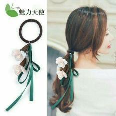 Dây buộc tóc xinh xắn – Dây buộc tóc Duy băng_Ren hoa