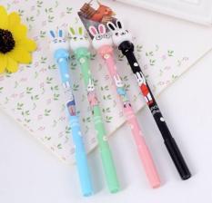 [Tặng kèm 1 ruột bút] Bút viết mực nước Thỏ Đeo Kính, có 4 màu mực đen, đỏ, xanh, tím – SakuraShop