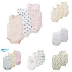 Combo 5 bộ bodysuit cho bé trai/bé gái hàng xuất Nhật- màu ngẫu nhiên (áo liền quần sơ sinh-24 tháng