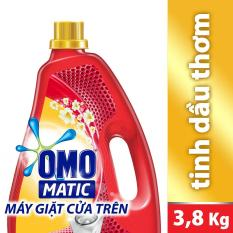 Nước giặt Omo Matic Tinh dầu thơm Comfort chai 3.8kg