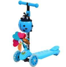 Xe scooter 3 bánh bọ rùa phát sáng dành cho trẻ em -AL