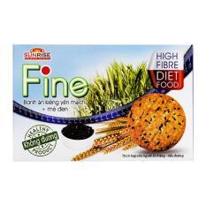 Bánh ăn kiêng yến mạch + mè đen Fine