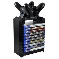 Đĩa Game Tháp Chân Đứng cho PS4 Dual Bộ Điều Khiển Đế Sạc cho Máy Chơi Game Playstation 4 PRO Slim