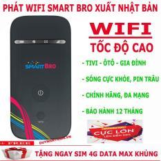 Bộ Phát Wifi Không Dây 3G 4G Smart Bro – Tặng Sim Viettel Data Khủng