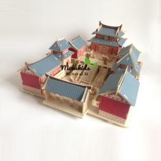 Đồ chơi lắp ráp gỗ 3D Mô hình Núi Võ Đang – Tặng kèm đèn LED trang trí