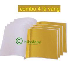 Combo 4 lá vàng (trang trí slime )