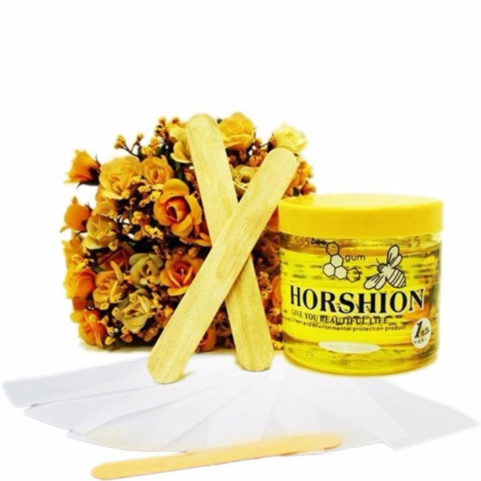 Bộ 1 Gel Wax lạnh tẩy lông Horshion và giấy Wax lông cao cấp (100 tờ)