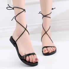 Giày sandal quai ngang cột dây