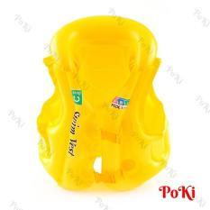 Áo phao bơi trẻ em ABC – Size M (bé từ 4-10 tuổi), chất liệu nhựa dẻo PVC an toàn CHỐNG LẬT, chống thấm nước tuyệt đối cao cấp – POKI