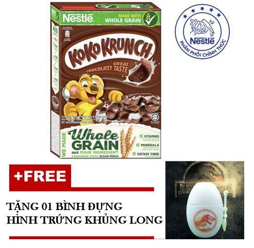 Ngũ Cốc Ăn Sáng Nestlé Koko Krunch 330g – tặng 01 bình đựng hình trứng khủng long