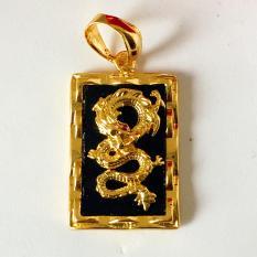 Mặt dây chuyền Thiên long đen trang sức phong thủy, may mắn, tài lộc, thời trang (vàng)